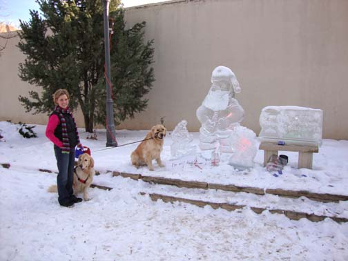 Santa Paws Ice Sculpture