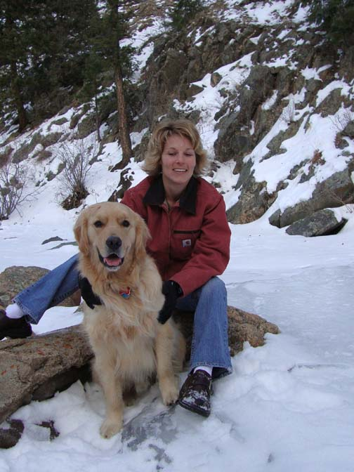Dillon and Mom on the River