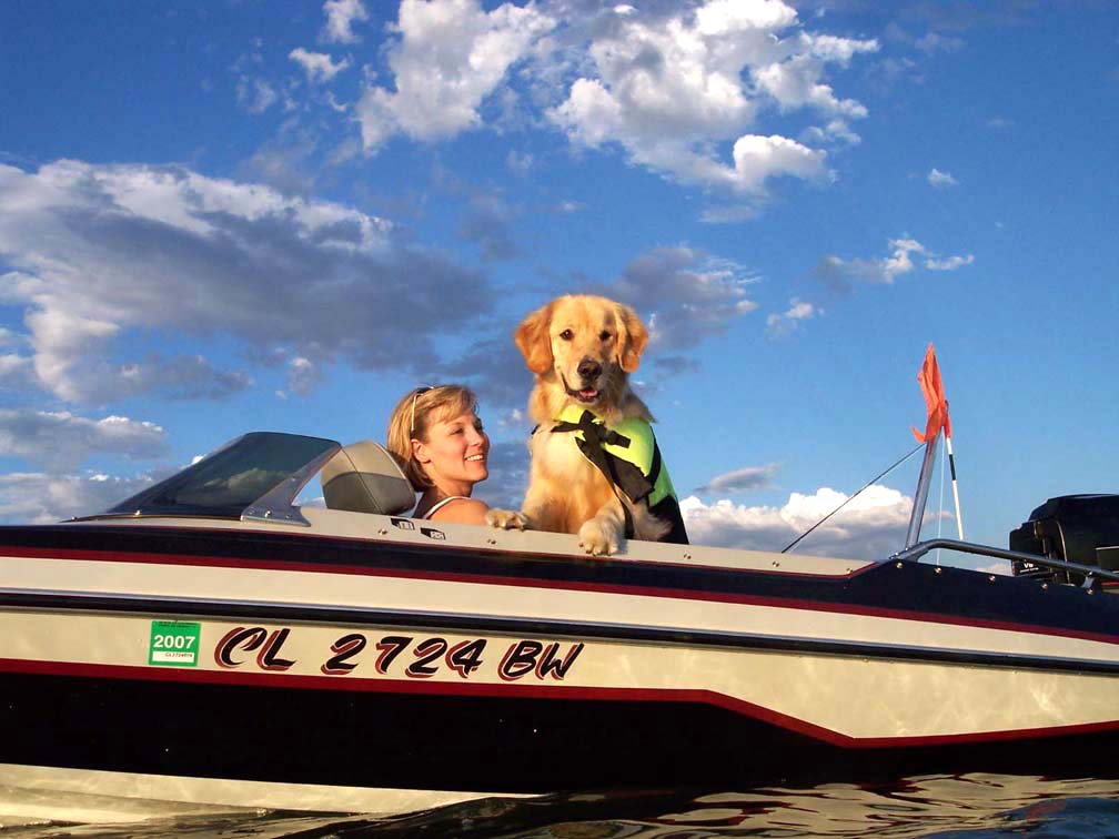 Boat with Mom