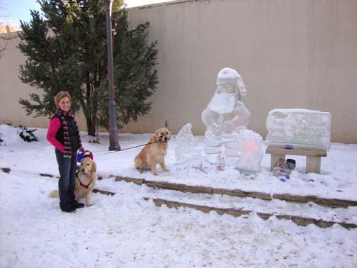 Santa Paws Ice Sculpture