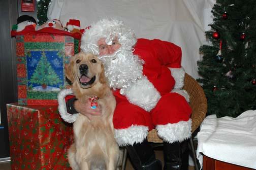 Dillon and Santa Paws