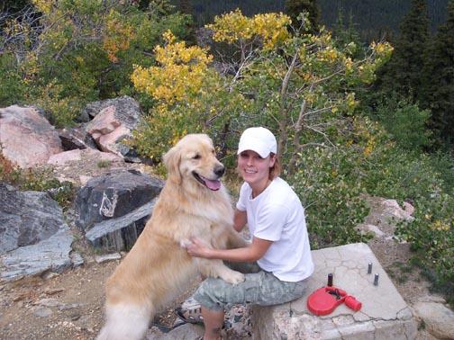 Mom and me hiking